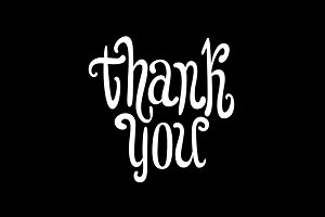 Thank you. Hand lettering vector