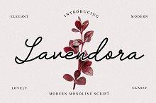 Lavendora - Modern Monoline Script by  in Fonts