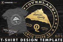 T-Shirt Design Template - 001