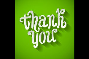 Thank you message made vector