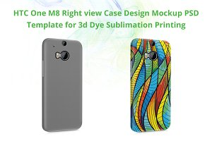 HTC M8 3d IMD Case Mockup Right