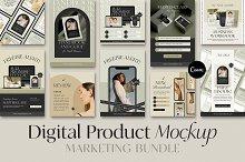 Digital Product Social Media Mockups by  in Social Media