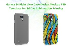 Galaxy S4 3d IMD Case Mockup Right