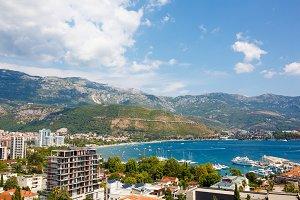 Panoramic view of Budva, Montenegro