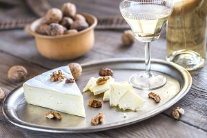 Brie cheese with nuts