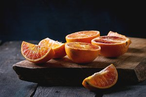 Blood orange fruits