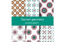 Sacred geometry seamless pattern set