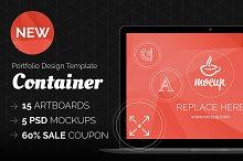 Portfolio Design Template Container