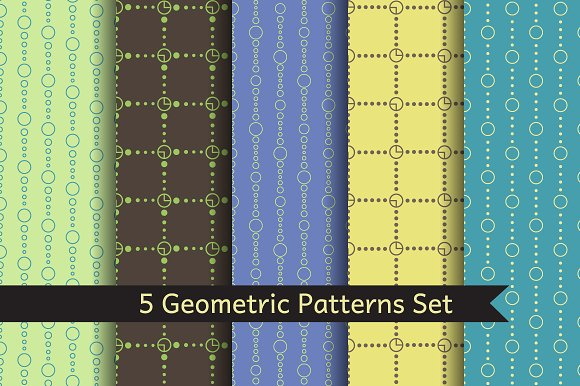 5 Geometric Patterns SET