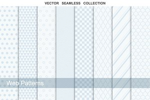 Collection of web seamless patterns.