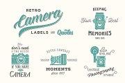 Retro Vector Camera Labels/Quotes