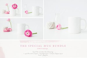 The MUG MOCKUP BUNDLE - 4 photos