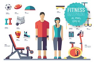 Fitness equipment - vector
