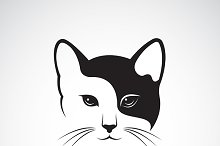 Vector image of an cat face design
