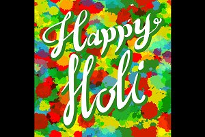 Happy Holi spring festival of colors