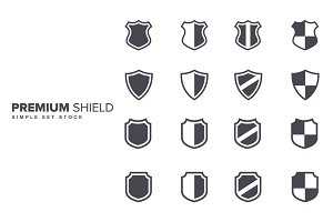 Premium Simple Shield Set