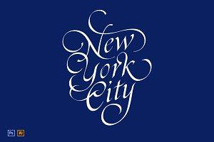 Vintage New York T-shirt Print