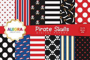 Pirate Skulls Digital Paper Pack