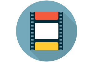 Film strip flat icon
