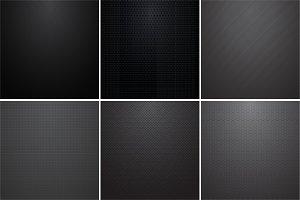 Collection of dark metal textures.