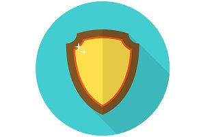 Shield flat icon