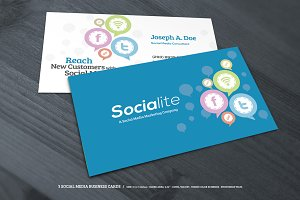 3 Social Media Business Cards