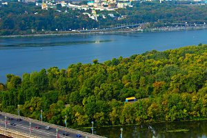 Top view of Kyiv, Ukraine