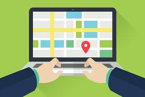 Flat GEO Location Monitoring