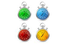 Stopwatch Set Vector