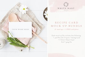BUNDLE - Recipe card mockups x 10+1