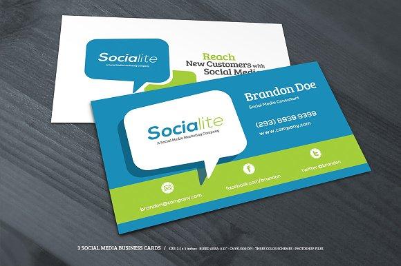 3 social media business cards business card templates creative 3 social media business cards business card templates creative market colourmoves