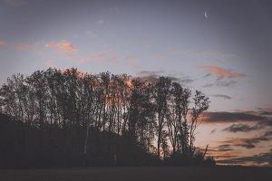 Dark Landscape before Sunset