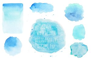 Blue Watercolor Vector Backgrounds