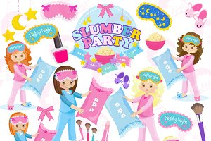 Slumber Party Clipart AMB-1234