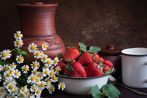 Russian country rustic still life