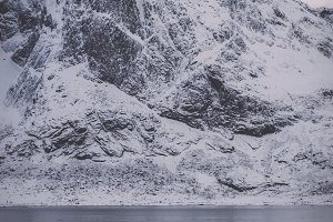 Snowy Mountains by the Sea (Norway)
