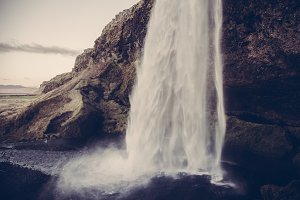 Waterfall in Iceland (Vintage Look)