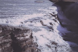 Waterfall in Iceland (Vintage Look)