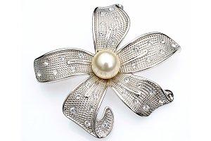 silver adornment