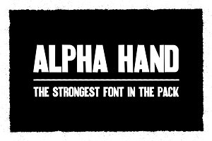 Alpha Hand Font