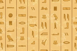 Antique egyptian hieroglyphics