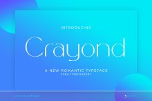 Crayond by  in Fonts
