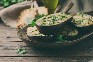 Traditional sardinian eggplant