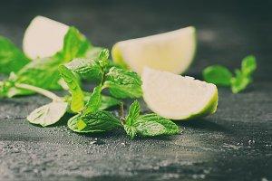 Fresh lemon and mint