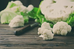 Fresh raw cauliflower