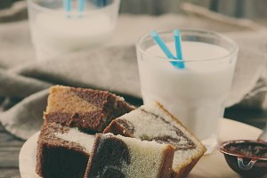 Sweet homemade marble cake