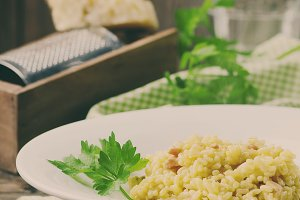 Italian risotto with saffron
