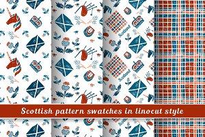 Scottish Linocut Patterns