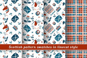 Scottish Linocut Patterns
