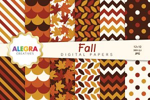 Fall Digital Paper Pack